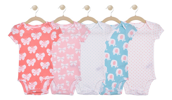 Set De 5 Bodies Manga Corta Carters Girls 126h5690