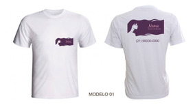 Kit 3 Camisetas Para Salão De Beleza Cabeleireiro Empresa
