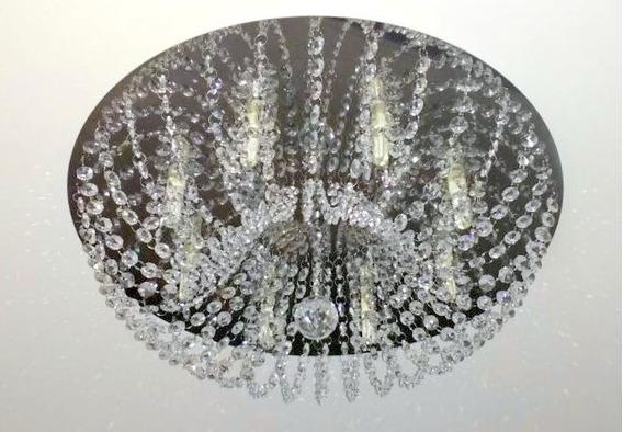 Plafon Cristal Asfour 50cm Sala Estar E Jantar ,quarto