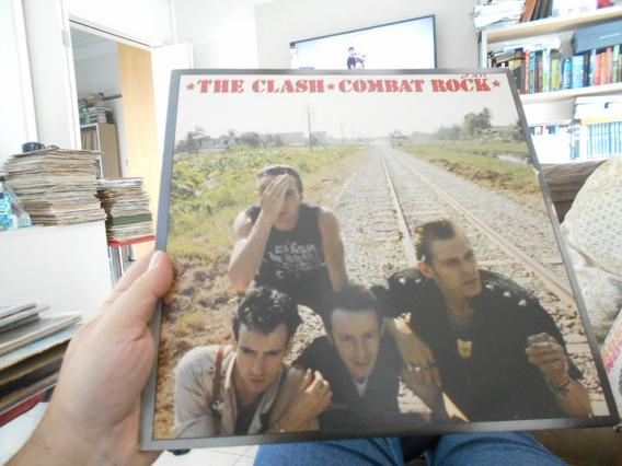Lp - The Clash - Combat Rock -c/ Poster Gigante Orig Import