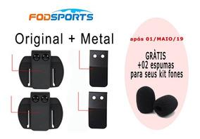 02 Clip Metal Intercom V6 Suporte Comunicador Capacete