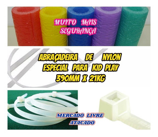 Kid Play Abraçadeiras De Nylon 390mm Muito+forte Kit C/100