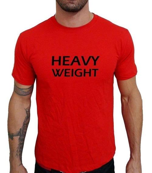 Camiseta Mma Shop Heavy Weight Peso Pesado Vermelho
