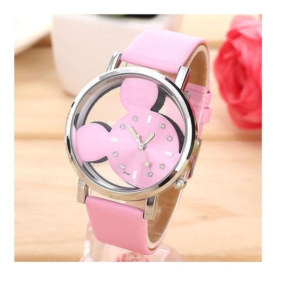 Relógio De Pulso Mickey Mouse Menina Criança Adolescente 176