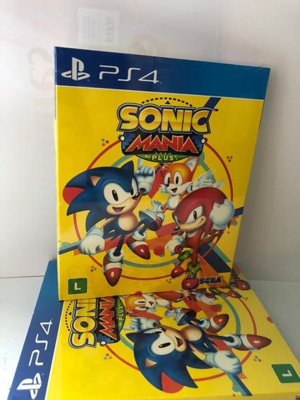 Sonic Mania Plus Ps4 Mídia Física Lacrado + Book