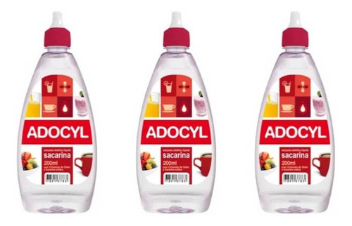 Adocyl Ciclamato Adoçante Líquido 200ml (kit C/03)