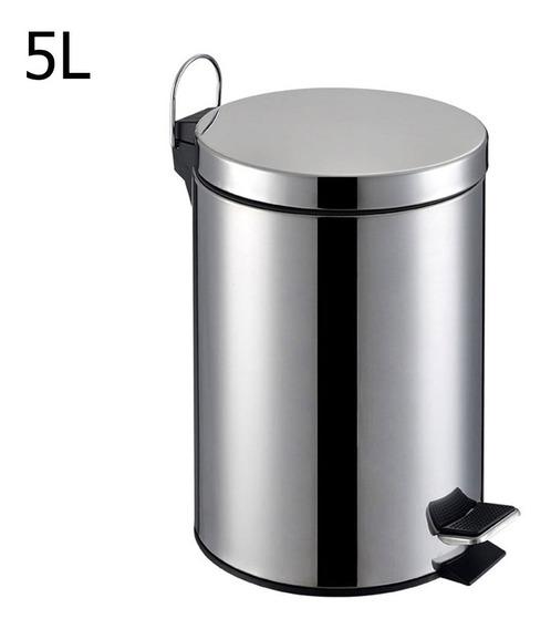 Lixeira De Aço Inox Redonda 5 Litros Tssaper