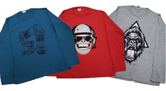 Camisa Camiseta Juvenil Crianças Masculina 8 Peças