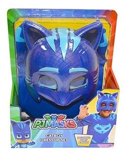Mascara Con Camisa Pj Masks Catboy Azul Set