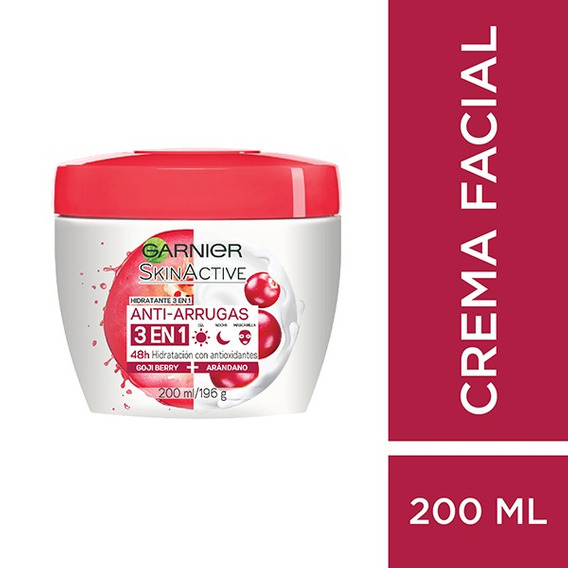 Crema Facial Garnier Skin Active Anti Arrugas X 200 Ml