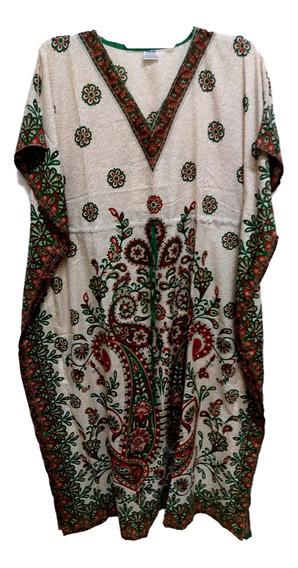 10 Vestidos Indiano Kaftan Longo Importado Veste Gg- Atacado