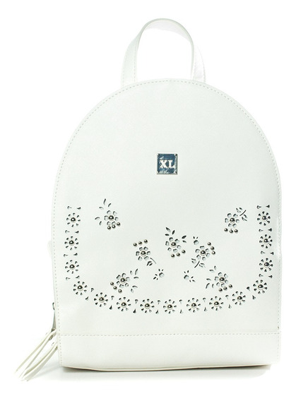 Lester Mochila Blanco Carteras Xl Extra Large Mujer