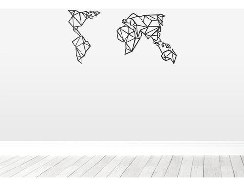 Imagem 1 de 3 de Quadro Decorativo Parede Mapas Mapa Mundi Minimalista 90cm