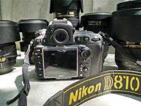 Nikon D810 36.6mp + 64gb Tripé Bolsa Grip Sb910