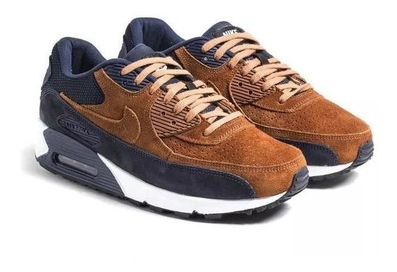 Tenis Masculino Nike Air Max 90 Caramelo\azul! Aproveite!