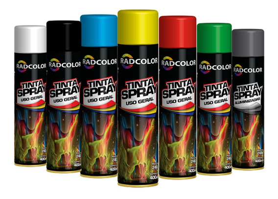 Tinta Spray Todas As Cores Cx 12 Un Uso Geral E Automotivo