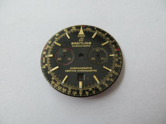 Breitling Chronomatic Mostrador Para Projeto De Restauração