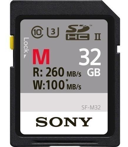 Sony Cartão Sd Profissional 32gb 260mb/s Sf-m32/t Uhs-ii Lac