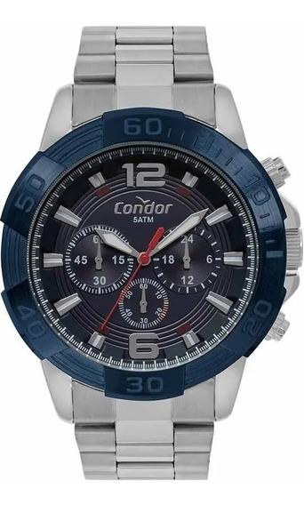 Relógio Condor Masculino Ref: Covd54ba/3a Cronógrafo Prata