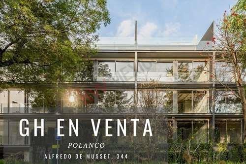 Imagen 1 de 18 de Exclusivo Departamento De Dos Niveles Con 250m2 Habitables En La Colonia Polanco