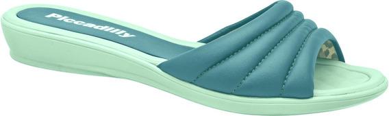 Tamanquinho Baixo Piccadilly Confortável E Util Azul