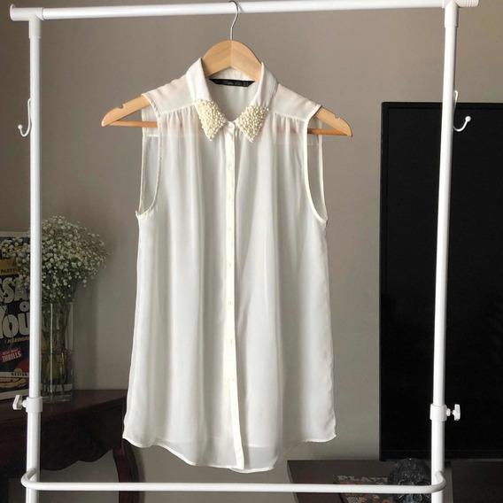 Zara Trafaluc Blusa sin mangas negro gris claro
