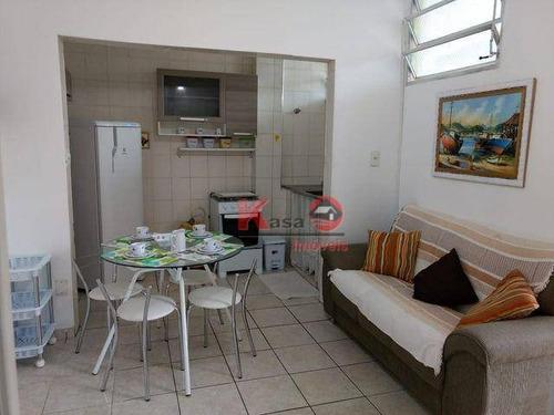 Apartamento Com 2 Dormitórios À Venda, 55 M² Por R$ 295.000 - Gonzaga - Santos/sp - Ap10164