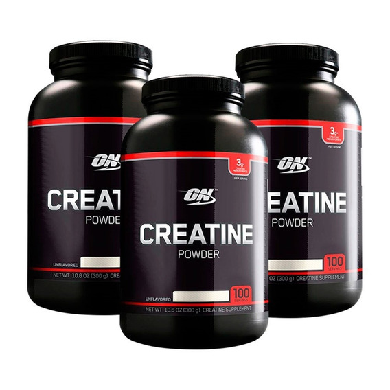 Creatina Black 300gr Optimum Nutrition X 3 Unidades
