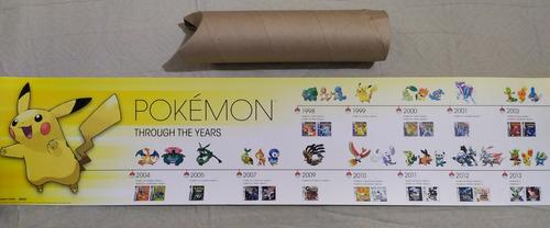 Imagen 1 de 1 de Afiche De Coleccion Historia De Pokemon