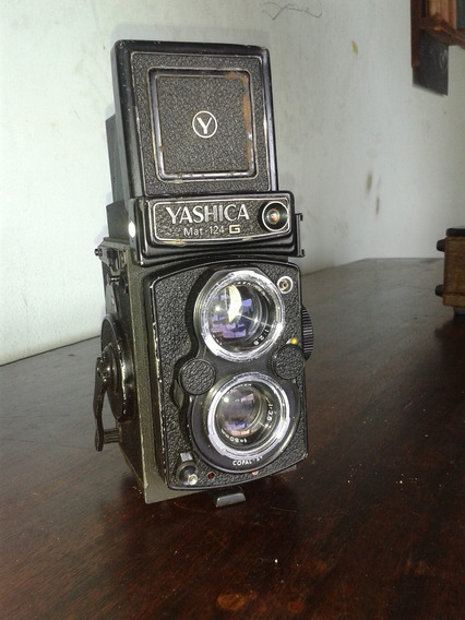 Camera Yashica 124 G Antiga (only Wood)