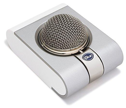 Azul Del Copo De Nieve Micrófono Usb
