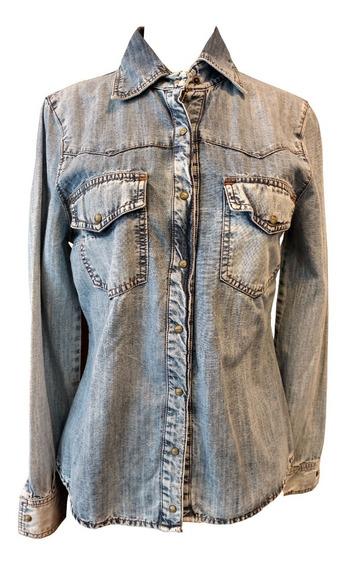 Camisa De Jean Mujer Ossira Entallada
