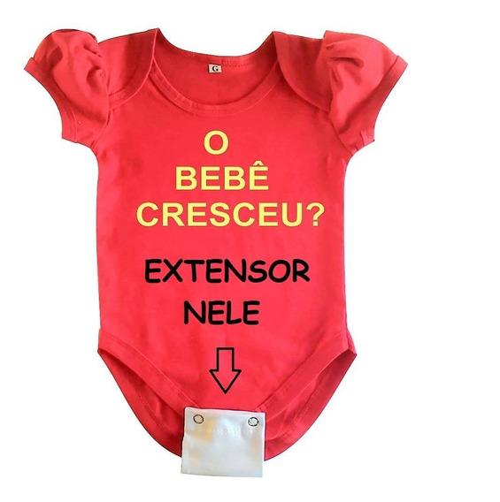 Extensores De Body Bebê - 5 Peças - 2 Ou 3 Botões 18 Cores