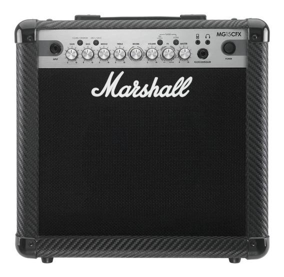 Amplificador De Guitarra Marshall Mg 15cfx 15w Con Efectos