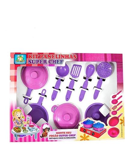 Imagem 1 de 1 de Jogo De Cozinha Infantil Panelinhas Kit Com 9 Peças
