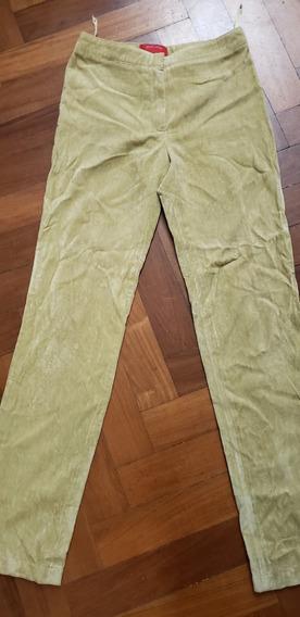 Pantalón De Pana Limon Jazmin Chebar Impecable