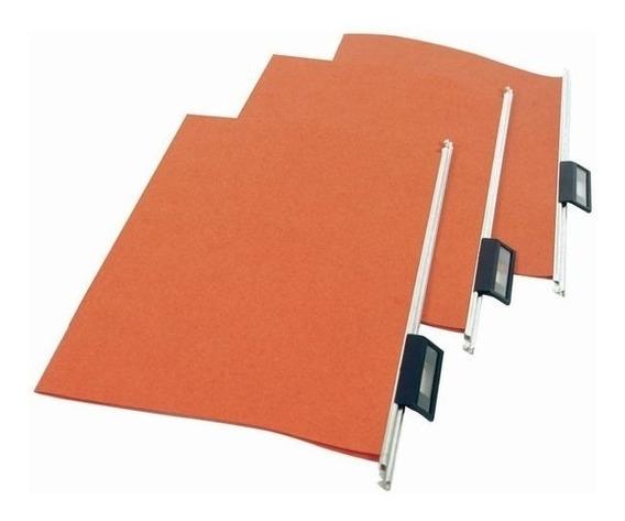 Carpeta Colgante Color Ladrillo Ventana Plastica Movil 100 U