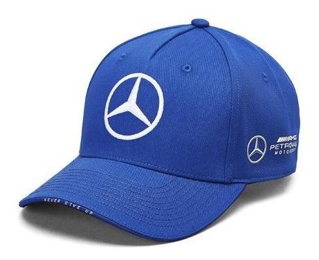 Gorra Valtteri Bottas Mercedes Amg Petronas Azul Curva F1
