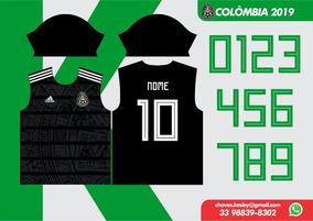 Camisa México 2019/20 Vetor Para Sublimação