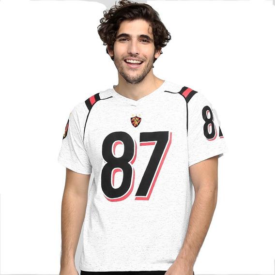 Camisa Sport Recife Oficial League Braziline Escudo Bordado