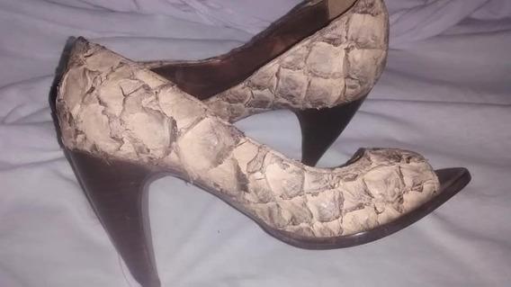 Sapato Mara Mac, Couro De Cobra