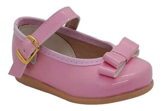 Zapato Guillermina Bautismo/comunión/fiesta Bebe-nena Rosa