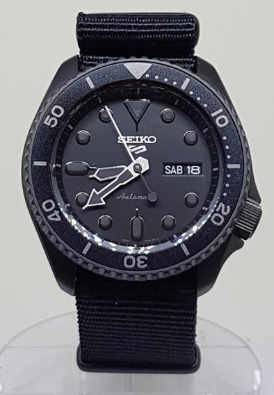 Seiko 5 Sports Automático Waterresistant 10bar Srpd 79 Black