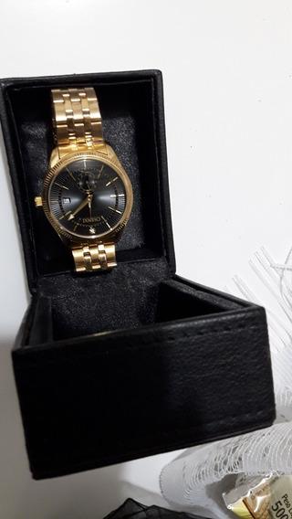 Relógio Chenxi Luxo Aço Inoxidável Dourado