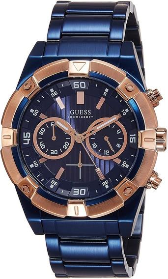 Relogio Guess W0377g4 Azul 100% Original Completo Caixa