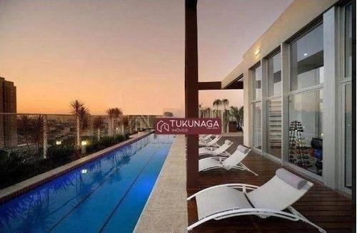 Studio Com 1 Dormitório Para Alugar, 38 M² Por R$ 1.870/mês - First - Vila Augusta - Guarulhos/sp - St0139