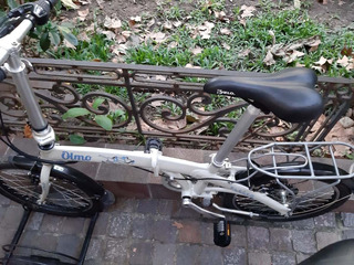 Bicicleta Plegable Olmo Urbana Color Blanca