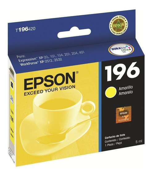 Epson Cartucho 196 Yellow Xp-201 Xp-211 Xp-401 Bagc