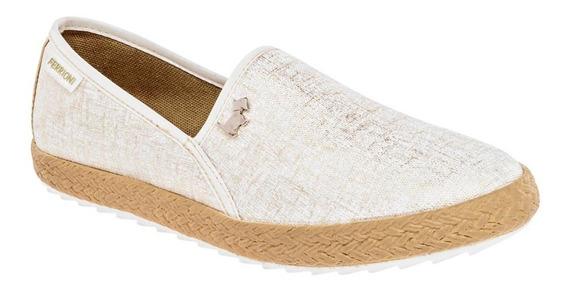 Zapato Casual Mujer Beige Oro T76002