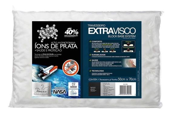 Travesseiro Extravisco Íons De Prata Fibrasca Ref I4005
